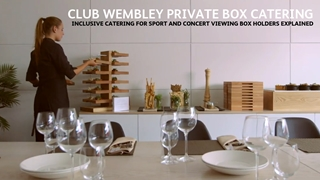 Sport and Concert Viewing Private Boxes -  catering explained